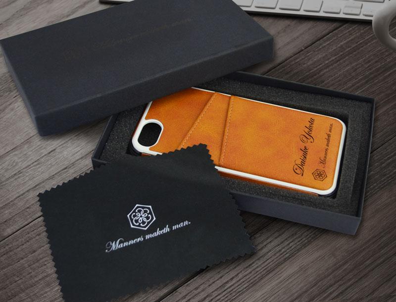 Manners maketh man. iPhoneケース バンパー 化粧箱入り