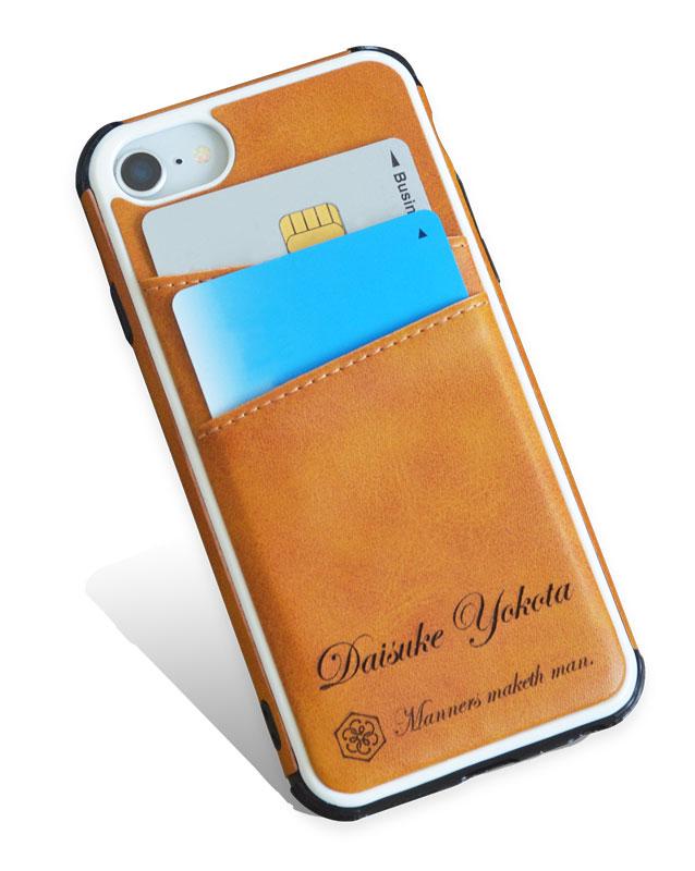 Manners maketh man. iPhoneケース バンパー カードポケット
